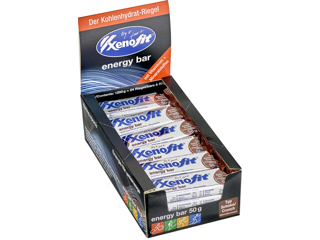 Xenofit Energy Bar Box 24 x 50g, Chocolate/Crunch